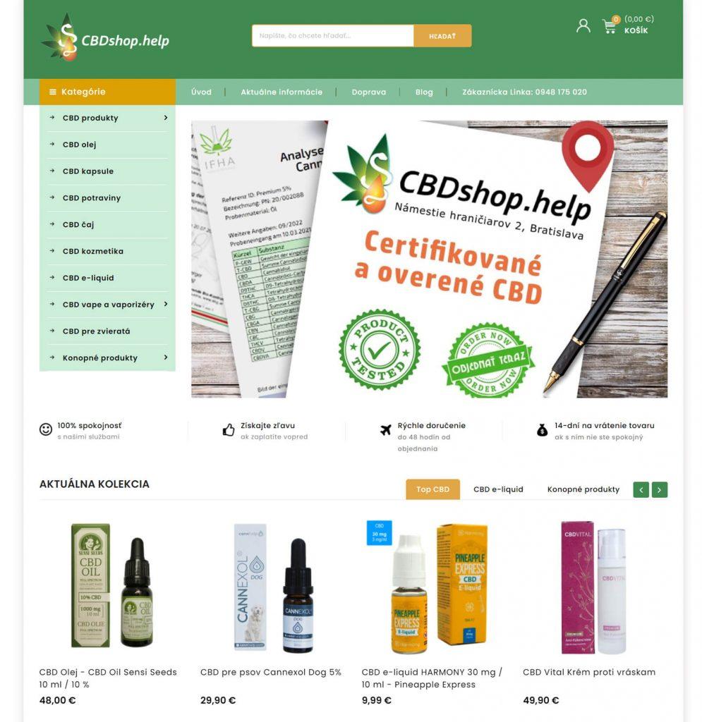 CBDshop.help printscreen internetového obchodu